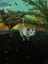Possum in a Tree by Flashpelt1