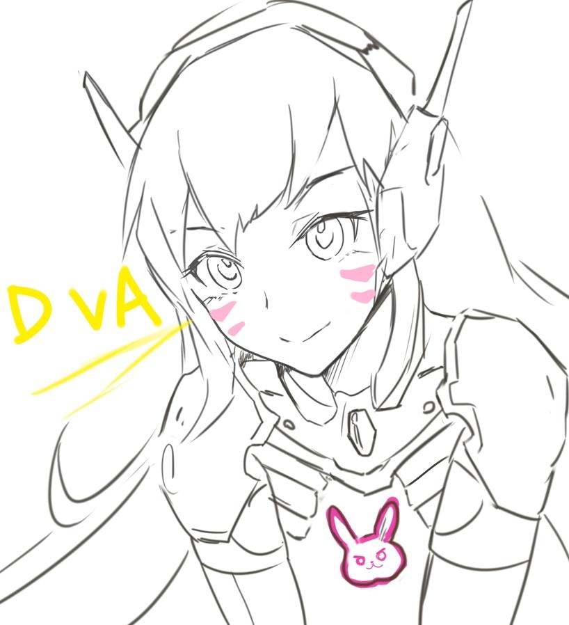 D Line Drawing Easy : D va by lancer on deviantart