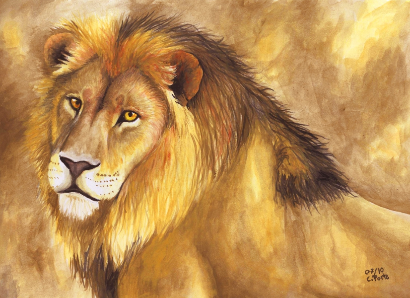 Watercolor lion by ManiaAdun