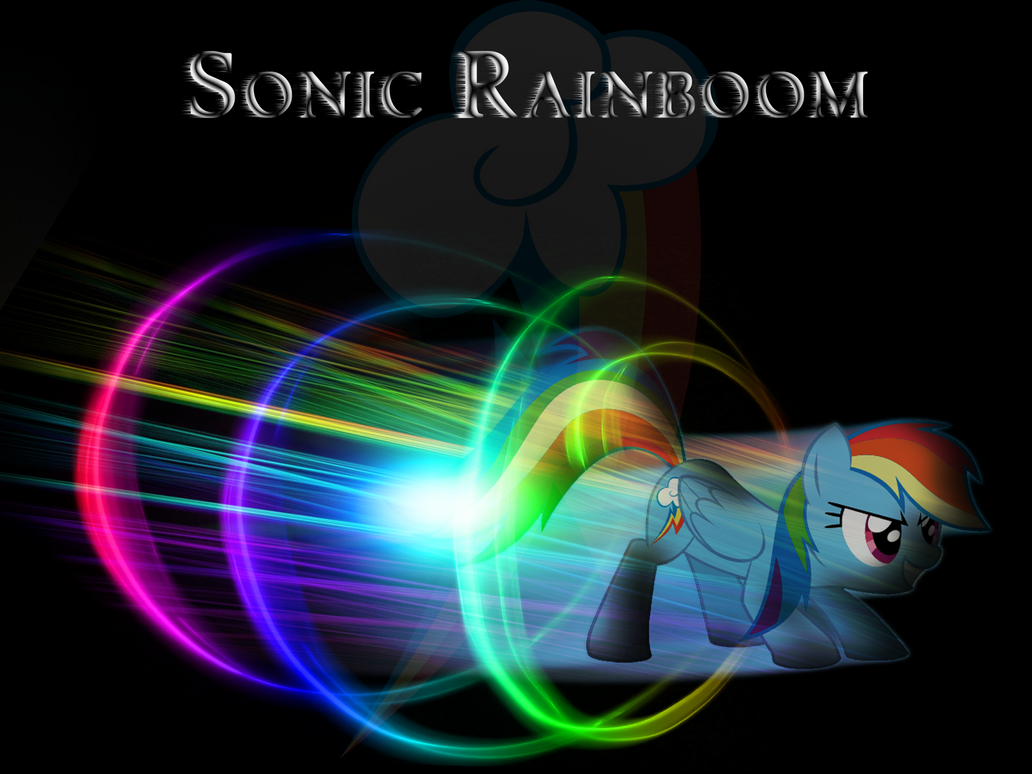 Rainbow Dash Sonic Rainboom Like A Boss