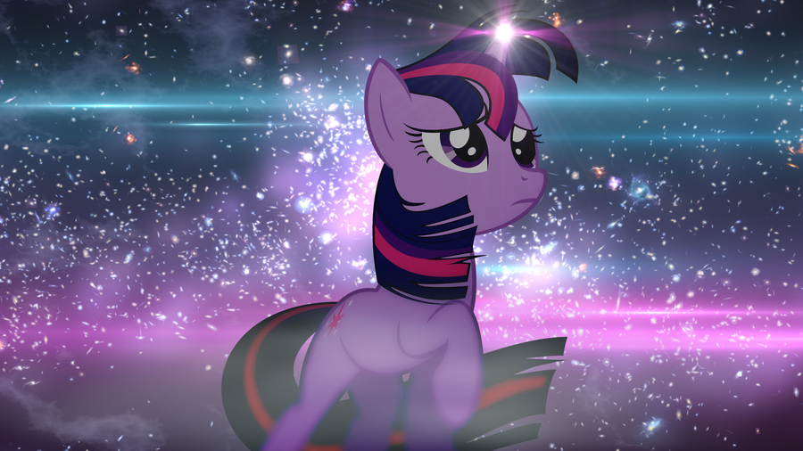 Twilight Sparkle Midnight Wallpaper by PinkiePizzles