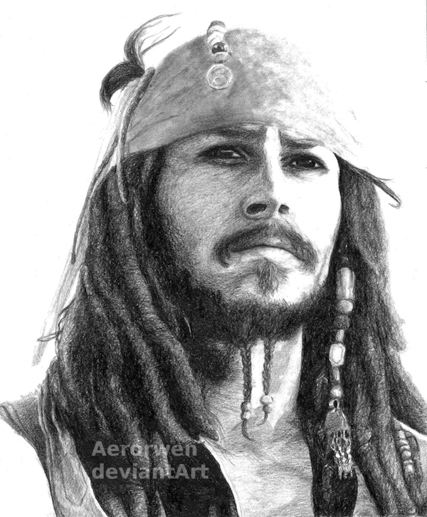Captain Jack Sparrow by Aerorwen