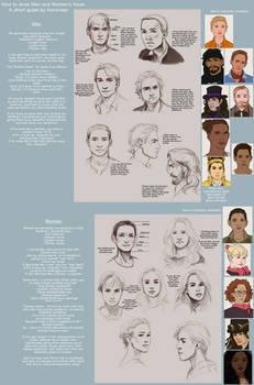 Men vs Female Faces Tutorial