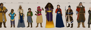 Tell No Tales characters by Aerorwen