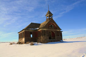 Old School House winter by rustyshacklefjord