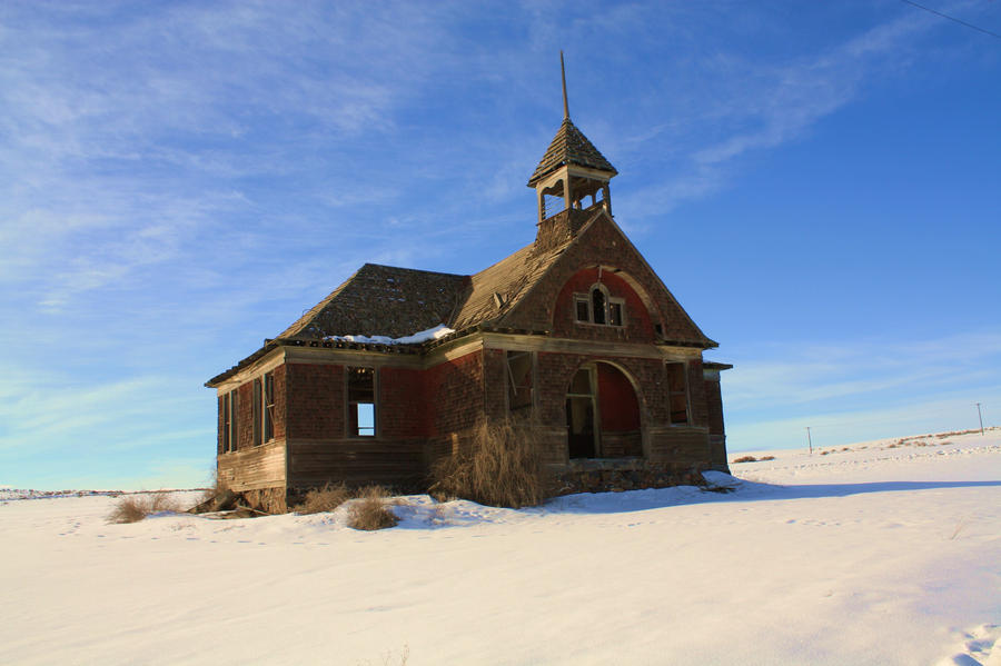 Old School House winter by coldasylum