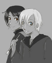 Scorpius and James by sinistertranquility