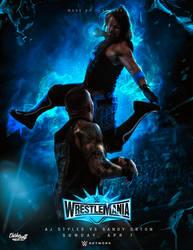 Wrestlemania 35 - AJ Styles vs Randy Orton by ClarkVL9