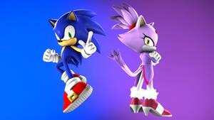Sonic and blaze pose 01