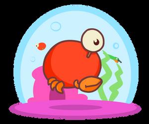 Orange Eggbody Crab