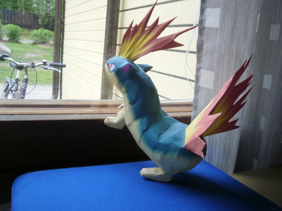 papercraft quilava by ChibiLinda