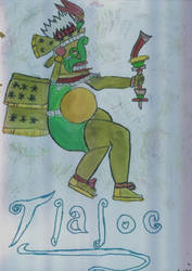 Tlaloc in Watercolors