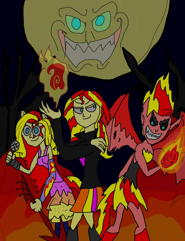 SUNSET SHIMMER :  THE DARK DISCORD. by hincapi
