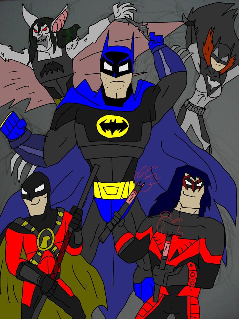 BATMAN   the bat family by hincapi