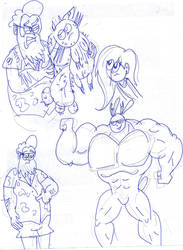 uncle bermuda sketch 5 by kickazzjohnni