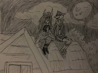 moonlight hanging by kickazzjohnni
