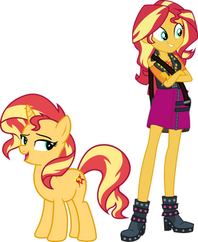 Palette Swap 7: Sunset Shimmer by QuanXaro