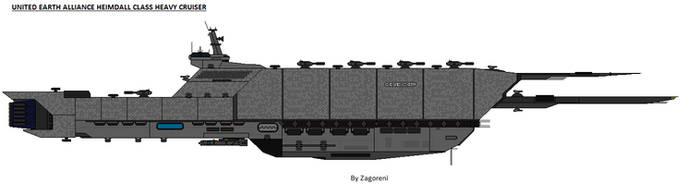 Heimdall class - Heavy Cruiser by zagoreni010