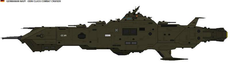 Odin class Combat Cruiser by zagoreni010