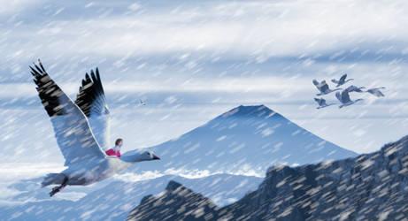 Fantasy Fowl Flight by TerrianJunkie