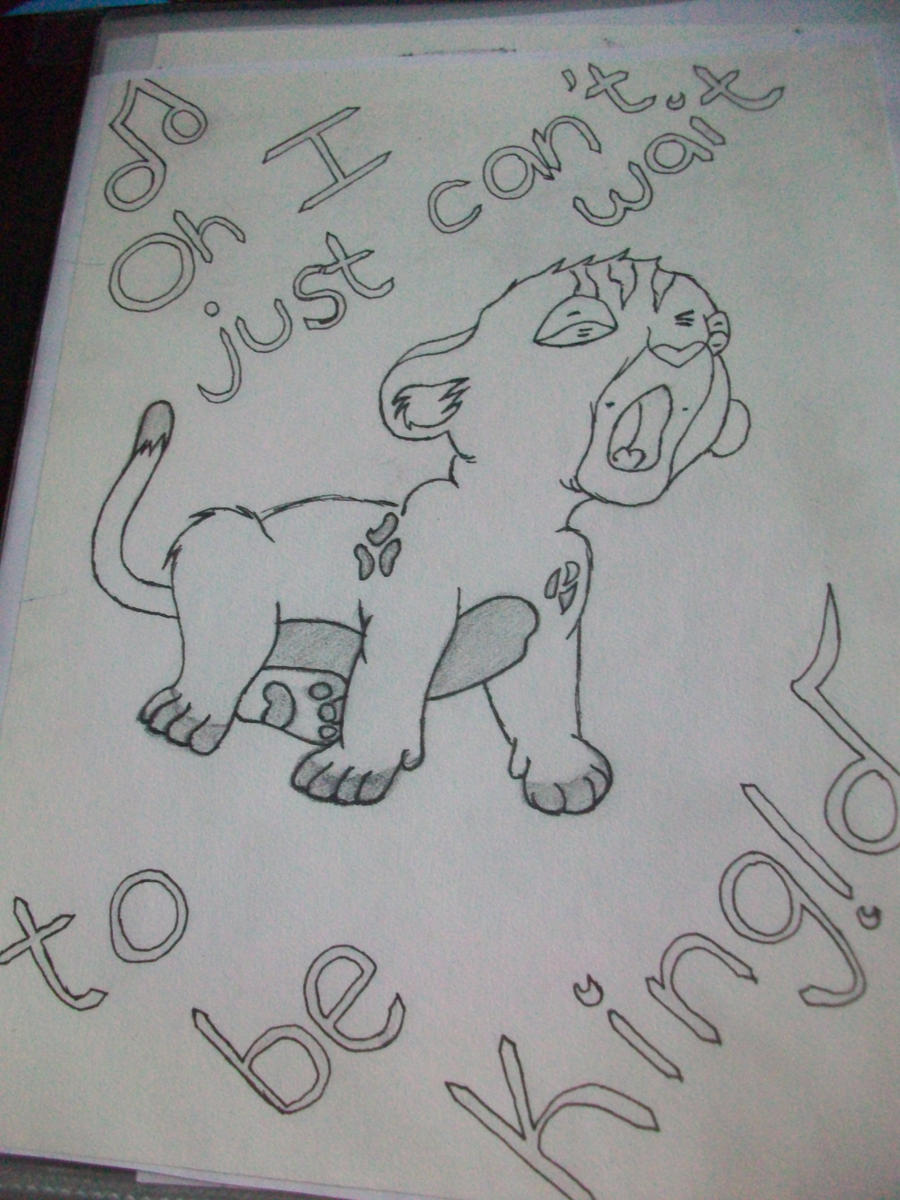 Baby Simba Cave Drawing Tattoo