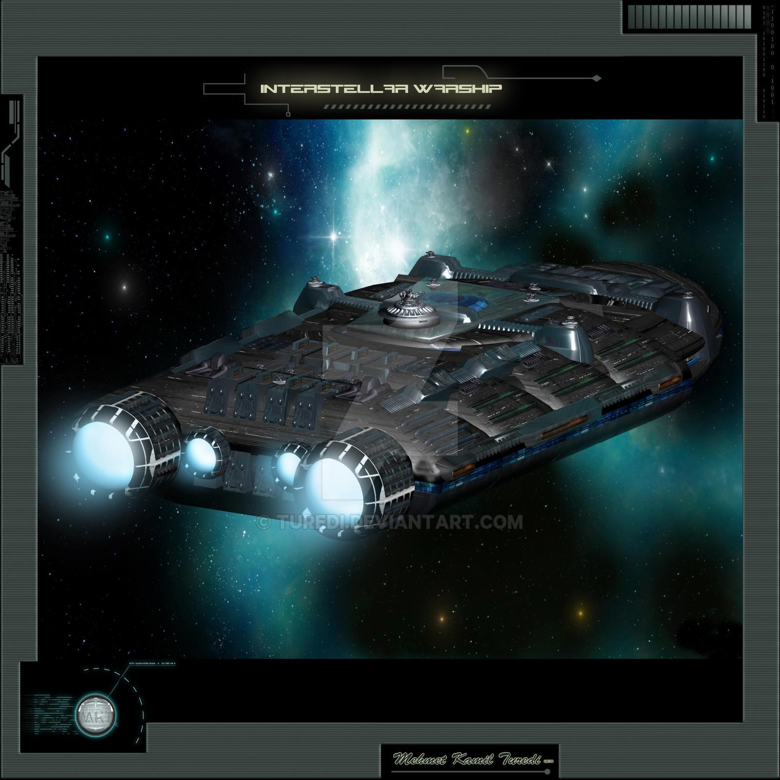Interstellar Warship by Turedi