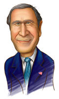 caricature george bush