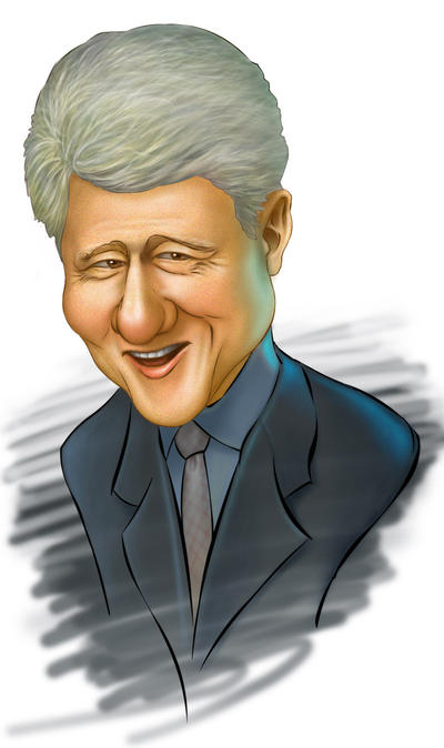 bill clinton caricature by clapano