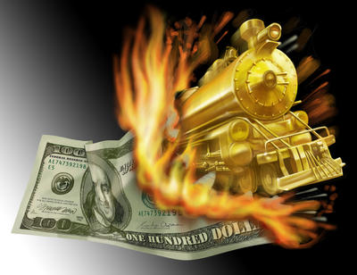 dollar vs gold by clapano