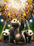 Pandas in Pagoda
