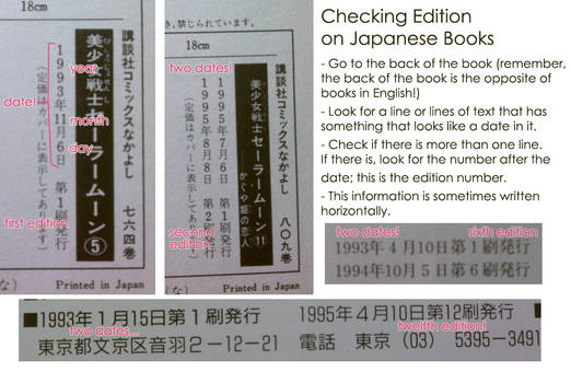 How to Check the Edition of your Japanese Books