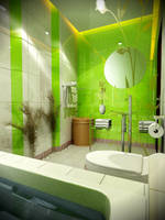 Aska Bathroom view 1 by 4bedesign