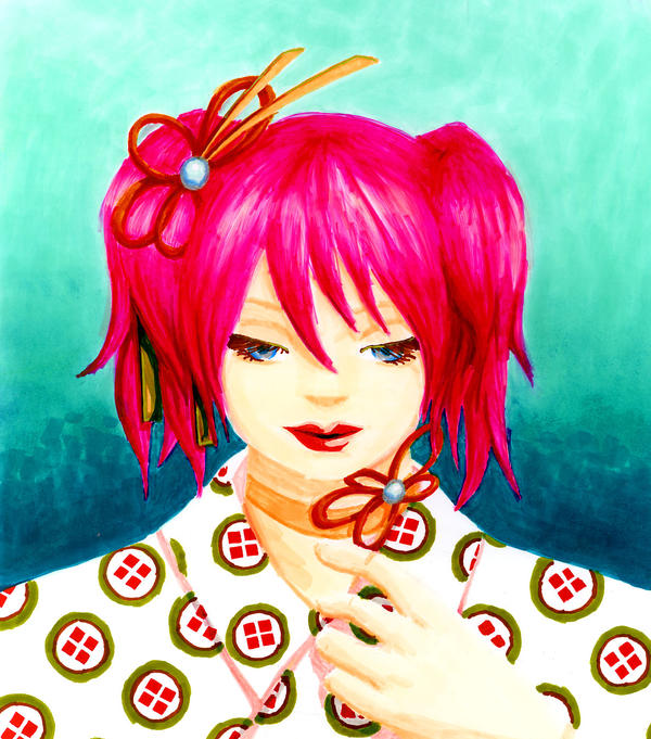 Cherry Kimono by rainbowcrane
