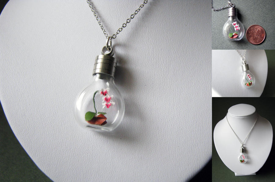Origami Orchid Necklace By Paper Peaches On Deviantart