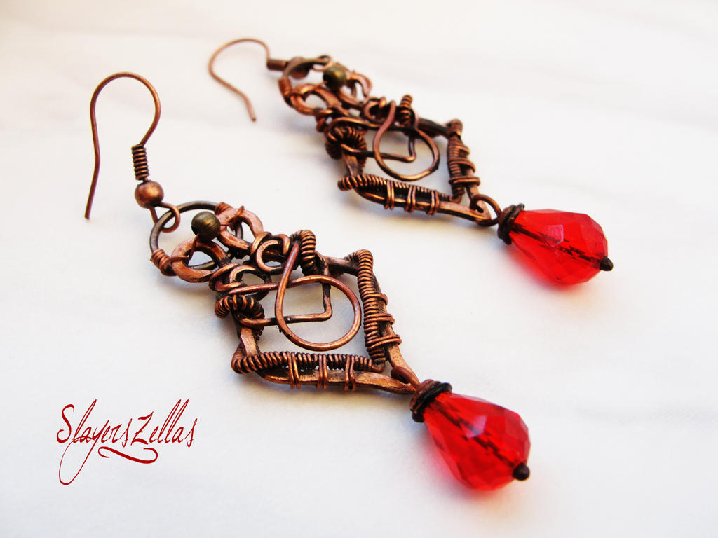 Fantastic Wire Wrapped Earrings Ideas - Electrical System Block ...