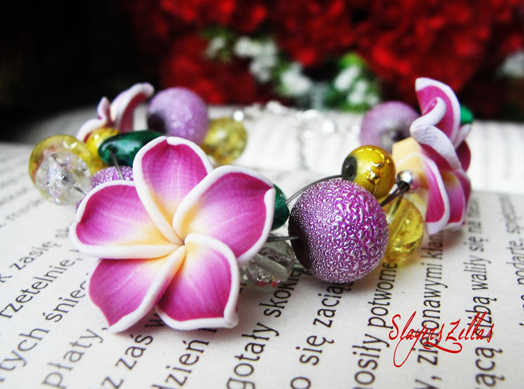 Bracelet - Violet bracelet by Benia1991
