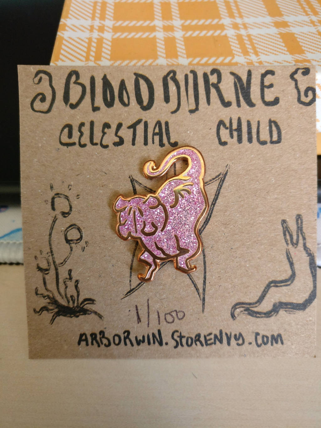 Bloodborne CELESTIAL CHILD enamel pin by callanerial