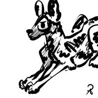 inktober2018 #3 african wild dog by callanerial