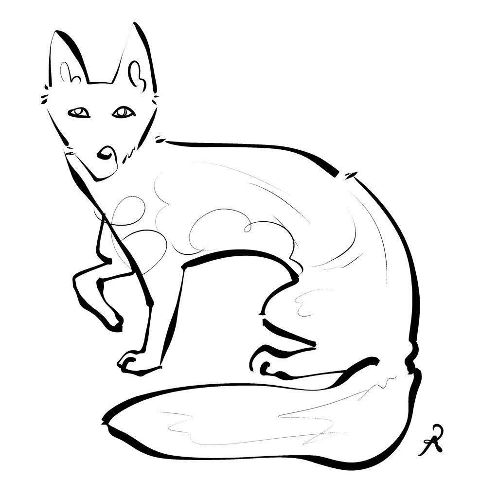 Inktober 2018 #12 - Darwin's Fox by callanerial