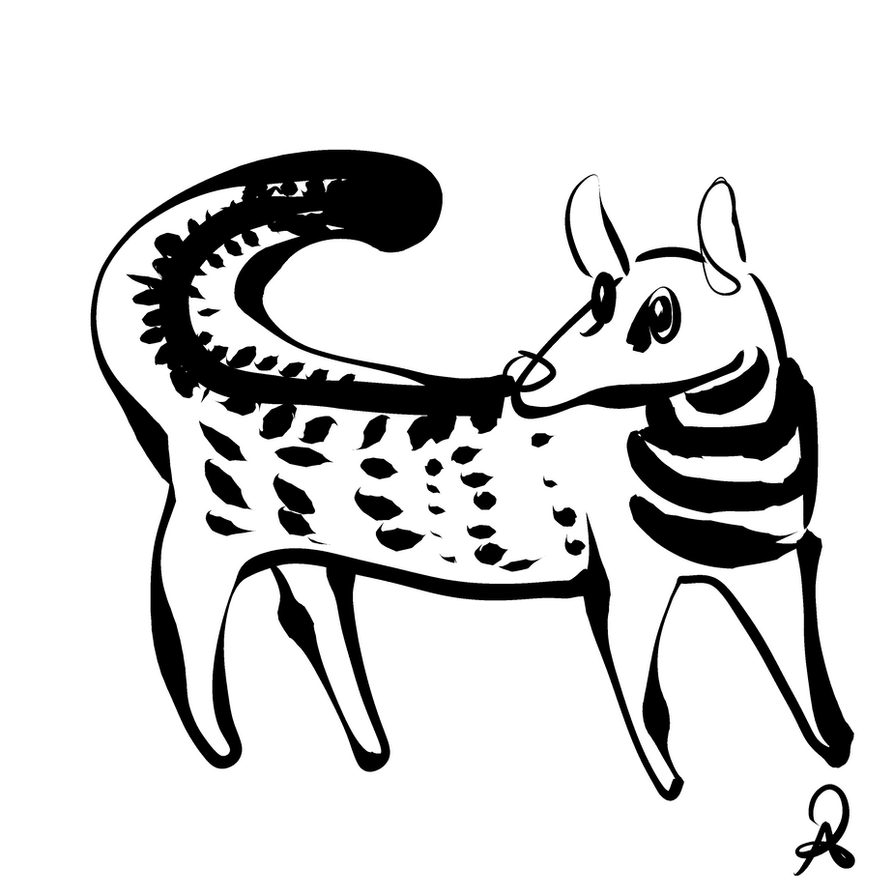 Inktober 2018 #18 - Malabar Large-Spotted Civet by callanerial