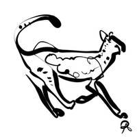 Inktober 2018 #23 - Northwest African Cheetah by callanerial