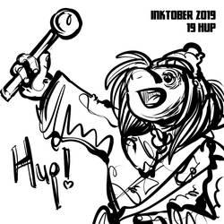 inktober2019 #19 - Hup!