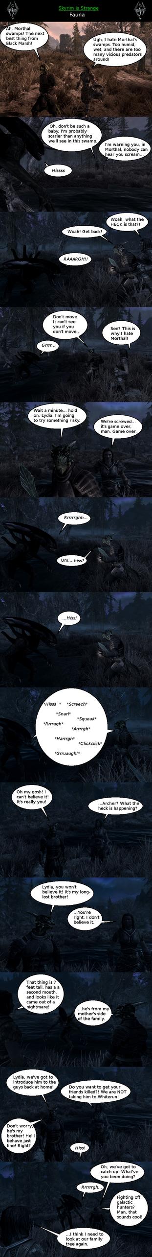 Skyrim is Strange - Fauna by HelloMyNameIsEd