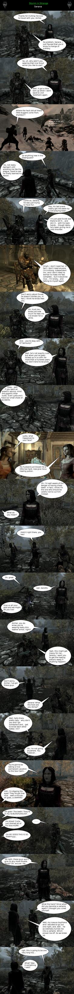 Skyrim is Strange - Serana by HelloMyNameIsEd