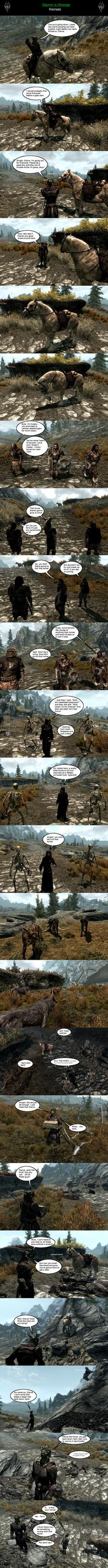 Skyrim is Strange - Horses