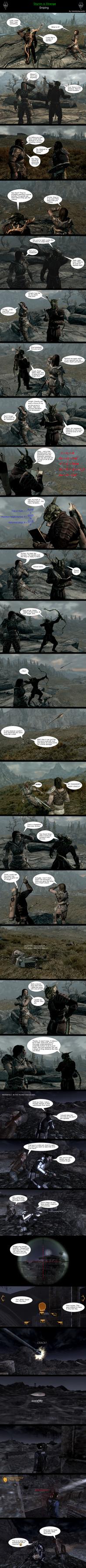 Skyrim is Strange - Sniping by HelloMyNameIsEd