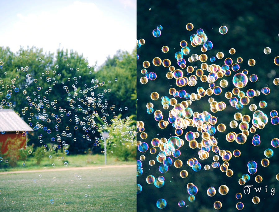 soap bubbles by TwigsCorner