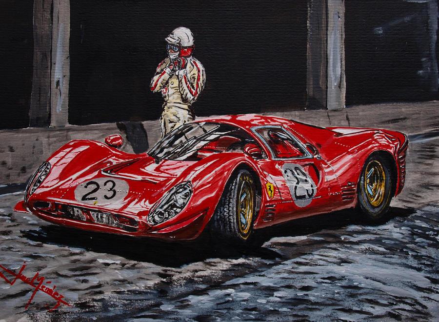 Lorenzo Bandini And The Ferrari 330 P4 By Juancmendez On Deviantart