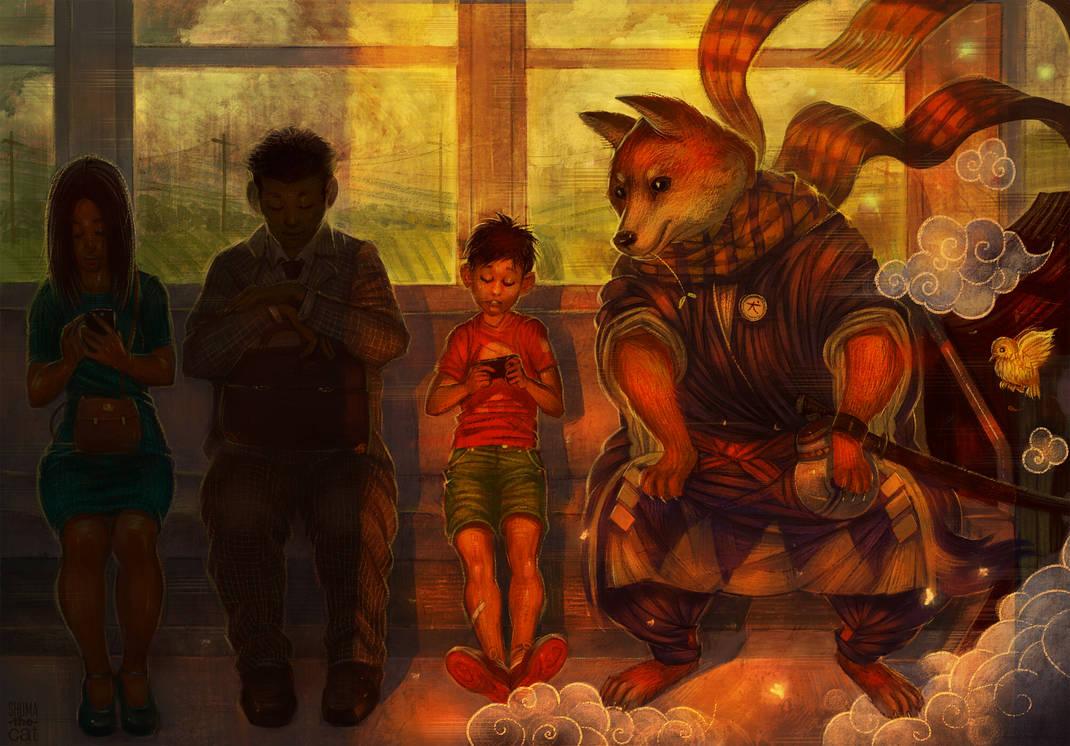 Onmyoji - Inugami by shuma-the-cat on DeviantArt