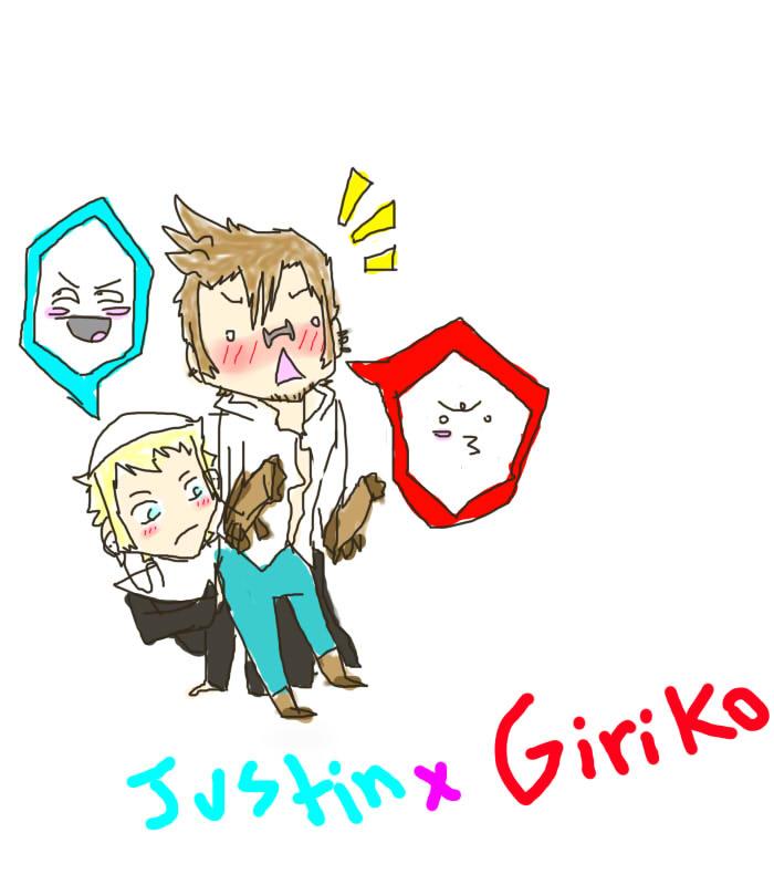Justin x Giriko by GrimathyGunn